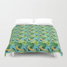 Plantain Paradise Pattern - For true plantain fans Duvet Cover