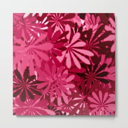 In The Tropics HOT PINK Metal Print
