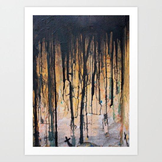 Drips 001 Art Print