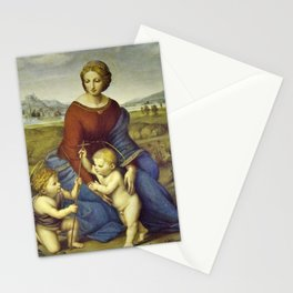 Madonna of the Meadows by Raphael Stationery Cards