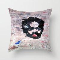 banksy Throw Pillows featuring C'EST CI N'EST PAS BANKSY  by Lazara Rosell Albear