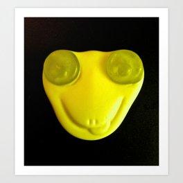 Yellow Face Art Print