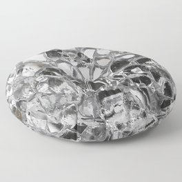 Silver Mirrored Mosaic Floor Pillow