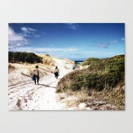 Girls' Surfing Safari Canvas Print