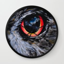 Seeing: The Eyes of an Owl Wall Clock