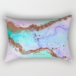 Rose Gold River Rectangular Pillow