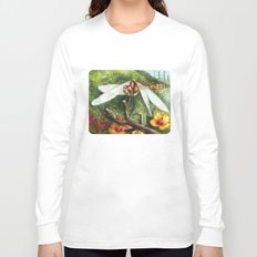 Amber Dragonfly Long Sleeve T-shirt