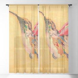 Hummingbird Sheer Curtain