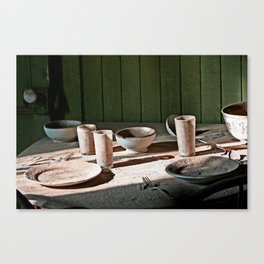 A place setting for two Canvas Print
