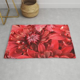 Strawberry Red Flowers Rug