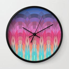 Rainbow Dawn Wall Clock
