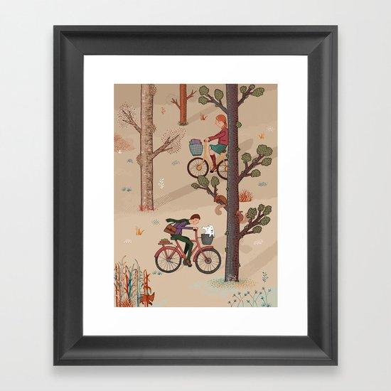 Cross Paths Framed Art Print