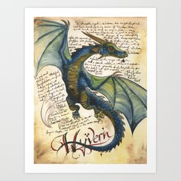 Wyvern from the Field Guide to Dragons Art Print