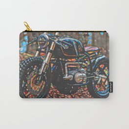 Vintage Cafe Racer Bike Carry-All Pouch