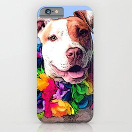 Dog in Flowers iPhone Case