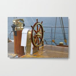 Helm wheel Metal Print