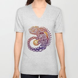 Celtic Chameleon Unisex V-Neck