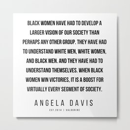 55     |  Angela Davis | Angela Davis Quotes |200609 Metal Print