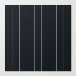 White and black pinstripes Canvas Print