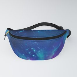 Violet And Blue Planetary Nebula - Fantasy Galaxy Space Fanny Pack