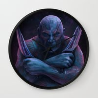 thanos Wall Clocks featuring Drax and Thanos by Jaime Gervais
