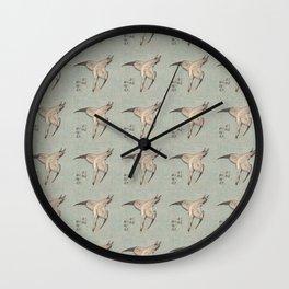 Hokusai Cuckoo and azaleas 2 -hokusai,manga,japan,Katsushika,cuckoo,azaleas,Rhododendron Wall Clock