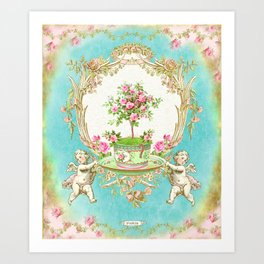 French Baroque Patisserie Tea Art Print