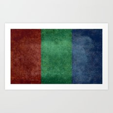 The flag of the planet Mars Art Print