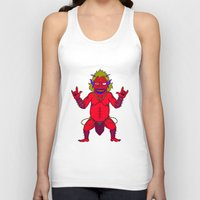 fat Tank Tops featuring Fat Demon by  Grotesquer