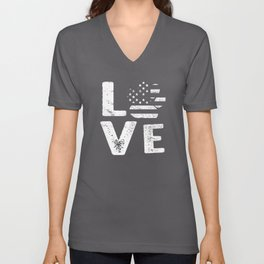 love cat Unisex V-Neck