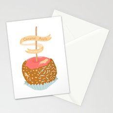 Caramel Apple om nom nom Stationery Cards