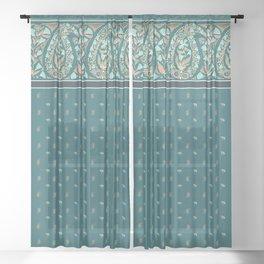 Garden Flowers Paisley Sheer Curtain