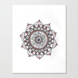 Handmade Watercolor Mandala Canvas Print