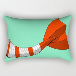 Candy Cane Mermaid Tail #2 #Christmas #Holiday Rectangular Pillow