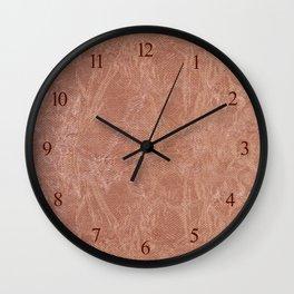 Brown canvas cloth texture abstract Wall Clock