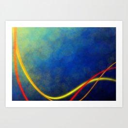Radiant Flow2 Art Print