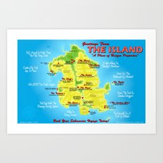 Greeting From The Island Art Print