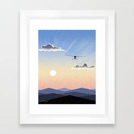 Sightseeing flight Framed Art Print