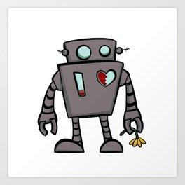 Rob the sad robot Art Print
