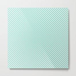 Beach Glass and White Polka Dots Metal Print