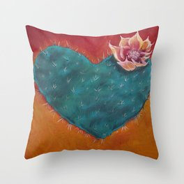 Cactus Heart Throw Pillow