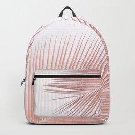 Palm leaf synchronicity - rose gold Backpack
