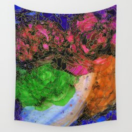 Space Garden in Technicolor Wall Tapestry
