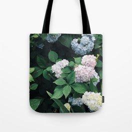 Hydrangeas in the Yard Tote Bag