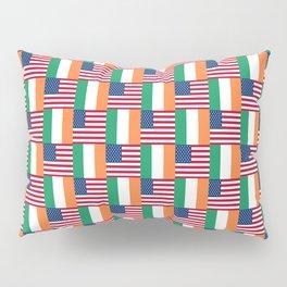 Mix of flag: usa and ireland Pillow Sham