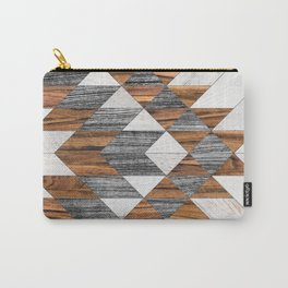 Urban Tribal Pattern 12 - Aztec - Wood Carry-All Pouch