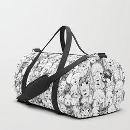just alpacas black white Duffle Bag