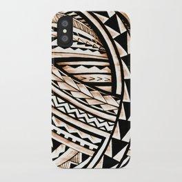 Polynesian Tapa Pattern iPhone Case