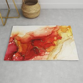 Golden Flames Abstract Ink - Part 2 Rug