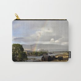 The Dalles Oregon - Rainbow Over The Dalles Dam Carry-All Pouch